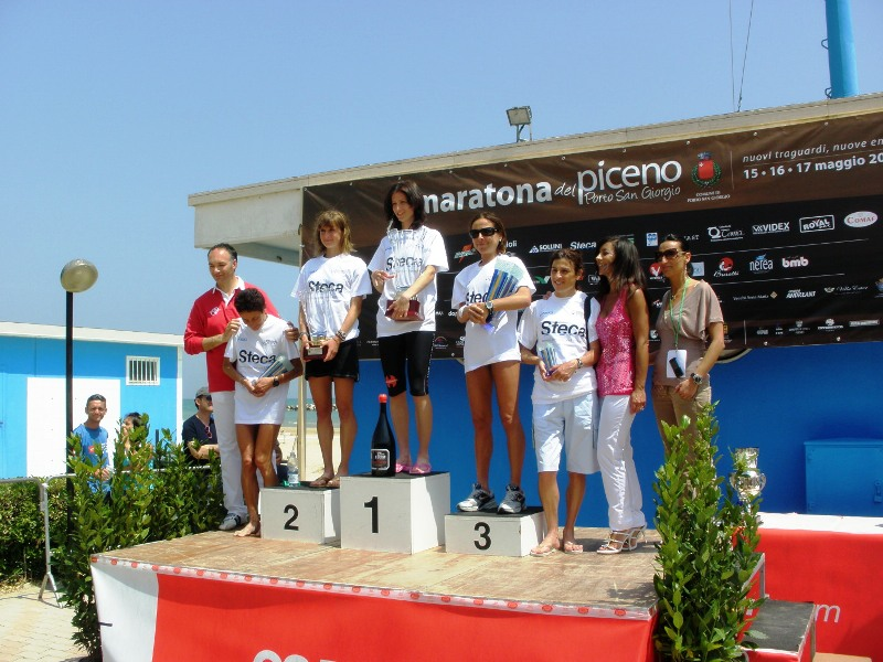 Maratona del Piceno 2009 podio femminile Marija Vrajic