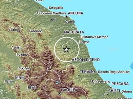 Scossa di terremoto nel fermano