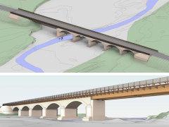 Il progetto del ponte di Rubbianello