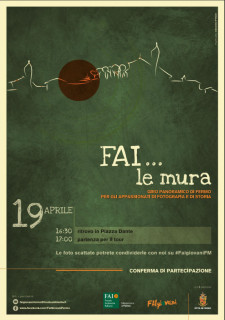 """FAI... Le mura"" a Fermo - locandina"