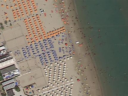 Veduta aerea della spiaggia di Porto San Giorgio