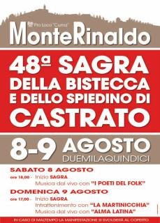 Sagra della Bistecca e dello Spiedino di Castrato 2015 - locandina