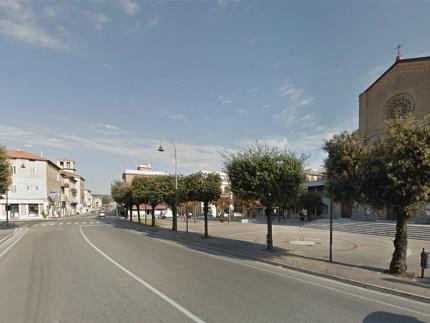 Pedaso: incrocio tra S.S. 16 e strada provinciale della Valdaso