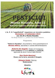 Incontro sui pesticidi a Monte Rinaldo - locandina