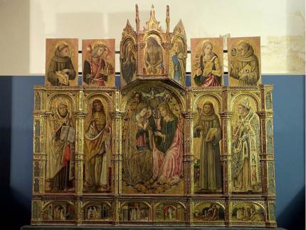 Incoronazione della Vergine - polittico di Vittore Crivelli