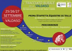 """Locandina dell'iniziativa """"Il Tracciato Rurale della Valdaso"""" a cura dei Gal Piceno e Fermano"""