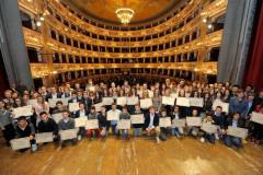 Pagella d'oro al teatro dell'Aquila di Fermo: i premiati