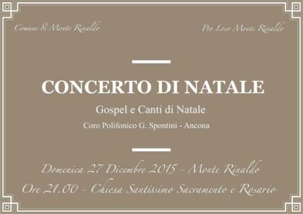 Concerto di Natale a Monte Rinaldo