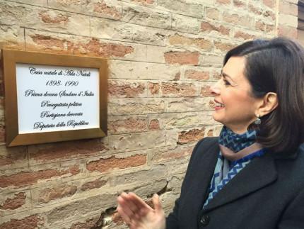 Laura Boldrini a Massa Fermana