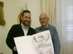 Alessio Terrenzi e Domenico Ciarrocchi, sopravvissuto alla strage di Massignano
