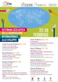 Settimana della cooperazione internazionale 2016 - locandina