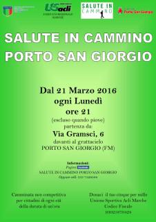 Salute in cammino - Porto San Giorgio - locandina