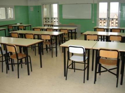 scuola, classe, banchi, aula scolastica