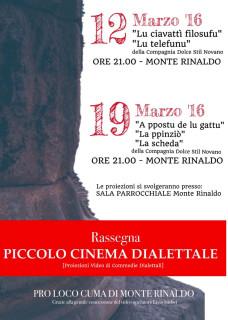 Cinema dialettale a Monte Rinaldo - locandina