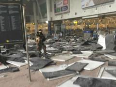 L'aeroporto di Zaveltem, sede di uno degli attentati avvenuti a Bruxelles, in Belgio, martedì 22 marzo 2016