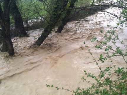 Il fiume Ete Morto in piena