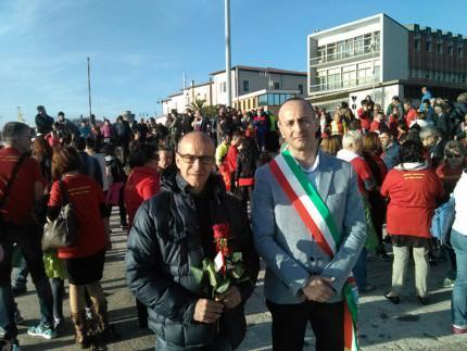 Roberto Viozzi e familiari di Giuseppina Granatelli e Bruno Fratini alle commemorazioni per la Moby Prince