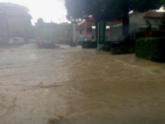 Maltempo: allagamenti a Servigliano - foto da Facebook