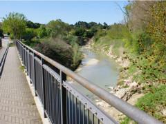 Casette D'Ete -Restringimento dell'alveo del torrente Ete Morto dopo il ponte di Casette