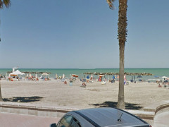 La spiaggia a Lido di Fermo
