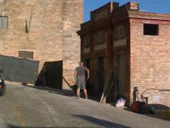 Lavori in corso ai bagni pubblici di Sant'Elpidio a Mare