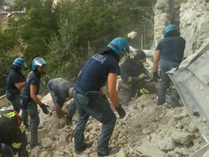 Reparto Mobile di Senigallia nelle zone del terremoto