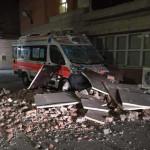 Danni all'ospedale di Amandola dopo il terremoto del 24 agosto 2016
