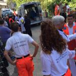 Evacuazione dell'ospedale di Amandola dopo il terremoto del 24 agosto 2016