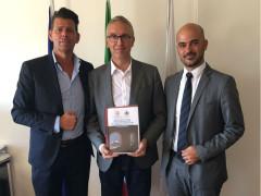 Maurizio Mangialardi, Luca Ceriscioli e Alberto Cinti