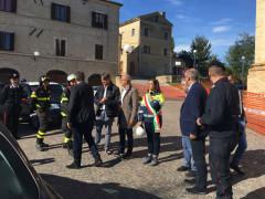 Luca Ceriscioli in visita nel fermano dopo il terremoto