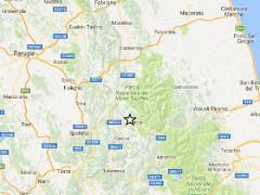 La mappa del terremoto del 1 dicembre 2016 tra Marche e Umbria