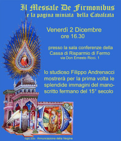 Messale De Firmonibus - incontro a Fermo