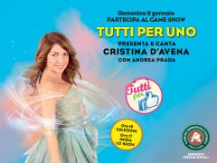 Tutti per Uno: game show con Cristina D'Avena al Centro Commerciale Auchan Porto Sant'Elpidio