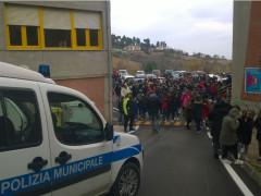 Evacuazione scuola Bacci Sant'Elpidio a Mare