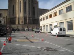 Lavori su piazza Dante a Fermo