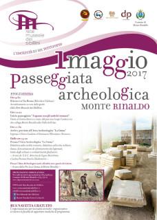 1maggio: passeggiata archeologica a Monte Rinaldo - locandina