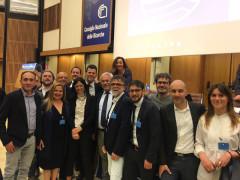 I sindaci delle Marche che hanno ricevuto la Bandiera Blu 2017 riuniti a Roma