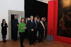 """Paolo Gentiloni in visita alla mostra """"Dai Crivelli a Rubens"""" a Roma"""