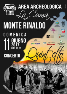 Concerto domenica 11 giugno all'Area Archeologica La Cuma di Monte Rinaldo - locandina