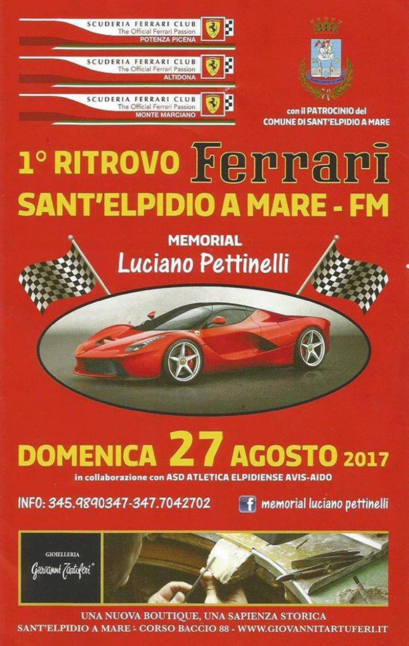 Ritrovo Ferrari a Sant'Elpidio a Mare - locandina
