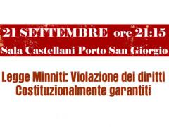 """""""Legge Minniti: violazione dei diritti costituzionalmente garantiti"""" - incontro a Porto San Giorgio"""