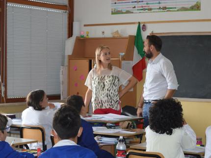 Il sindaco di Sant'Elpidio a Mare in visita alle scuole del territorio