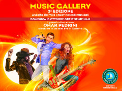 Domenica 15 ottobre al Centro Commerciale Auchan Posto S. Elpidio le semifinali di Music Gallery con Omar Pedrini