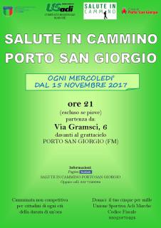"""""""Salute in cammino"""" a Porto San Giorgio - locandina"""