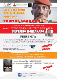 Tributo a Thomas Sankara - locandina