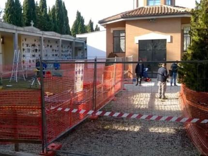 Lavori al cimitero di Capodarco di Fermo