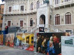 Lavori in corso a Palazzo dei Priori di Fermo