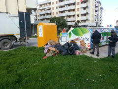 Abbandono improprio di rifiuti a Fermo