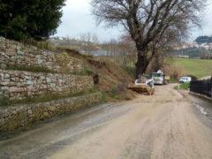 Maltempo: lavori di ripristino in via San Leonardo a Fermo