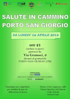 Salute in cammino - 16 aprile 2018 - Porto San Giorgio - locandina